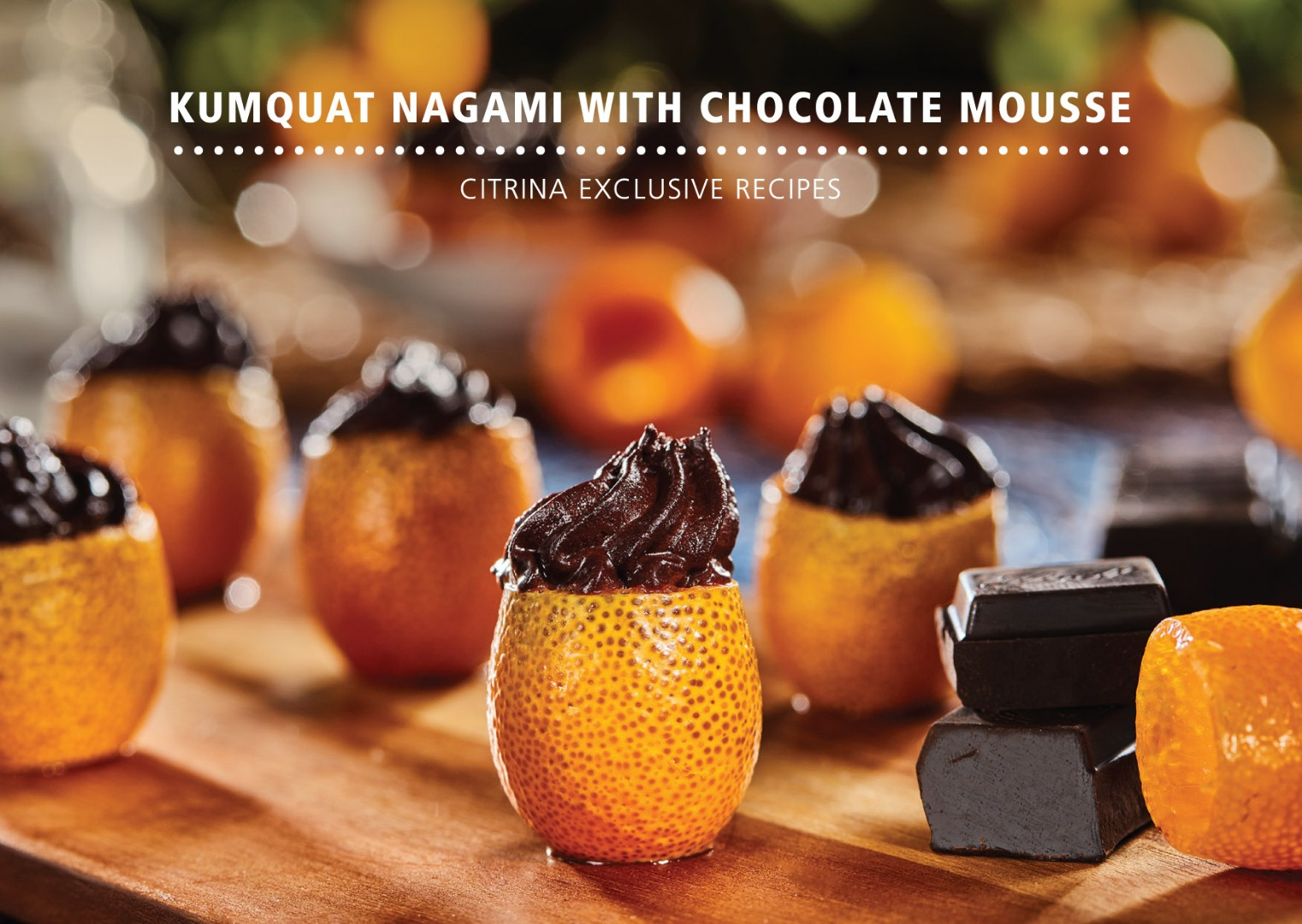 Kumquat - Ophelia Kumquat Nagami com mousse de chocolate