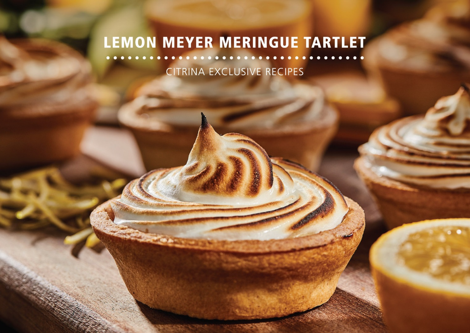 Meyer Lemon - Lisa Tartlet merengue de Limão Meyer